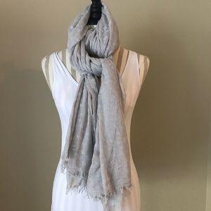Zara Home linen beige and white scarf/shawl.